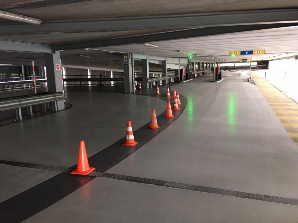 Epoxygulv i parkeringshus