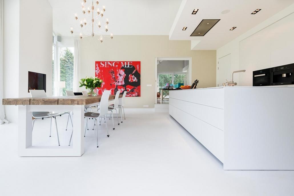 PU gulv i køkken alrum