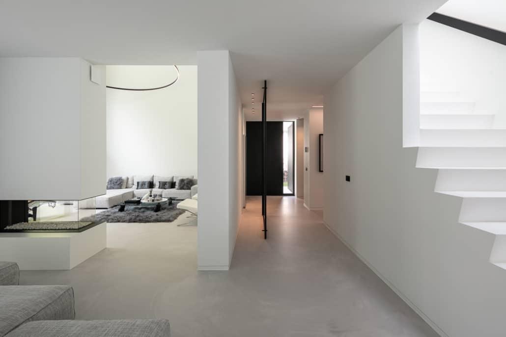 PU designgulv i nybygget funkisvilla